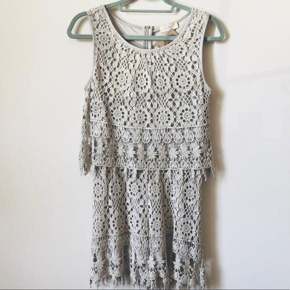 21f2c72495a9 Altar d State Pants - Altar d State • Khaki Colored Crochet Lace Romper